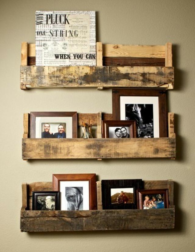 Idee Palette Bois cadre-photo-palettes-bois-idée - les choses simples
