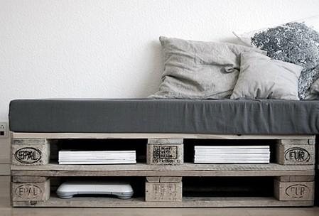 T te de lit palettes bois chambre les choses simples - Lit palette recup ...