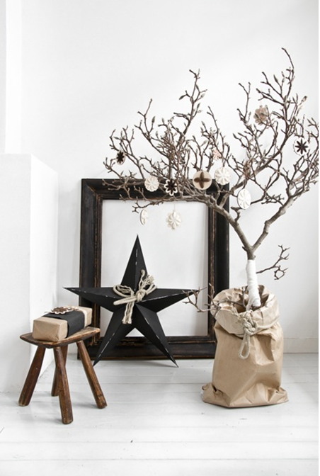 decoration de noel avec des branches. Black Bedroom Furniture Sets. Home Design Ideas