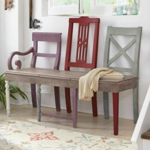 diy recycler ses vieilles chaises en bancs. Black Bedroom Furniture Sets. Home Design Ideas