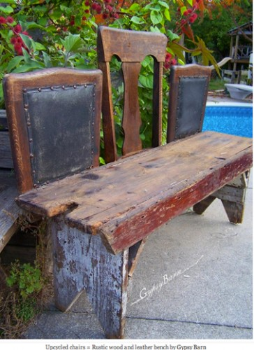 diy recycler ses vieilles chaises en bancs. Black Bedroom Furniture Sets. Home Design Ideas