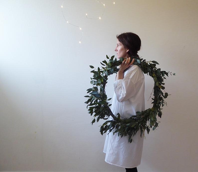 DIY couronne de feuilles