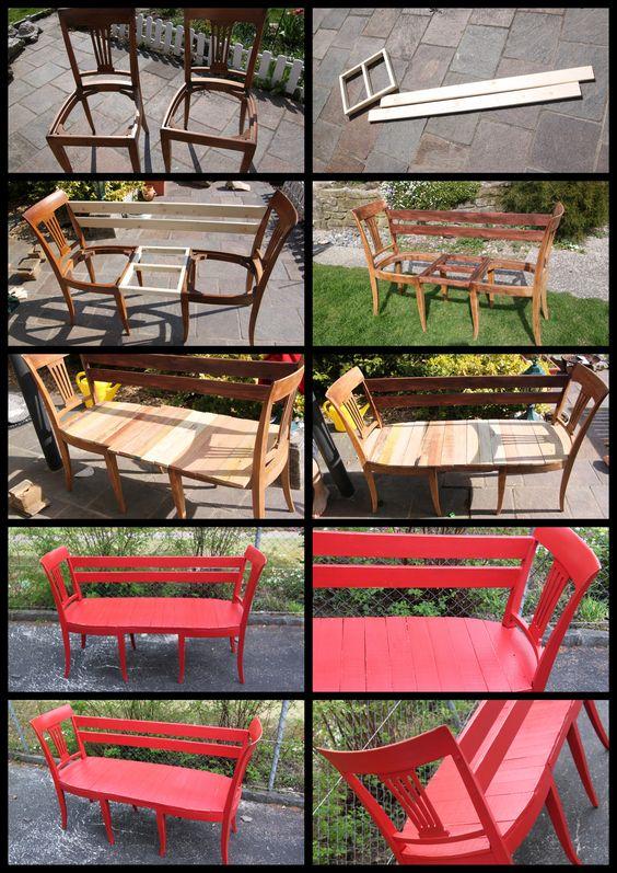 Faire un banc avec des chaises blog de conception de maison for Banc avec 2 chaises