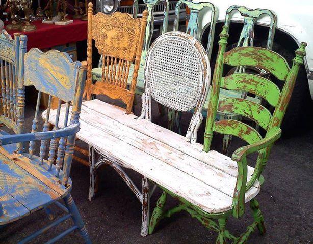 fabriquer-un-banc-de-jardin-avec-chaise-et-planche-bois - les